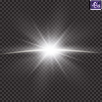 Efekt świetlny blasku. starburst. słońce.