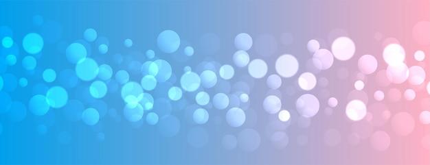 Efekt świetlny bokeh na ładnym gradiencie kolorów