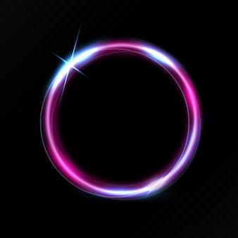 Efekt świetlny fioletowego koła