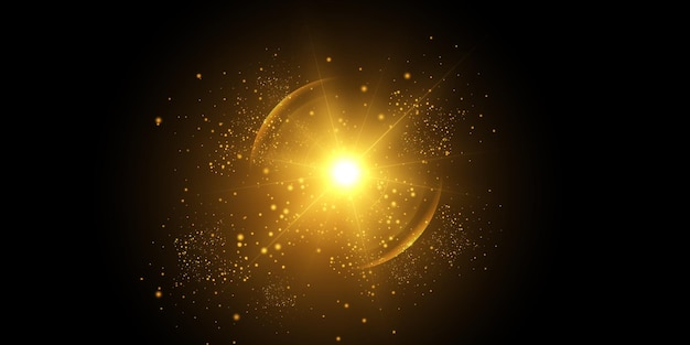 Efekt świetlny, flara obiektywu. światło słoneczne.