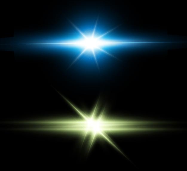 Efekt świetlny, futurystyczna gwiazda