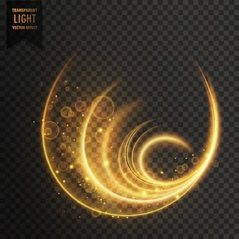 Efekt świetlny golen magii wektor