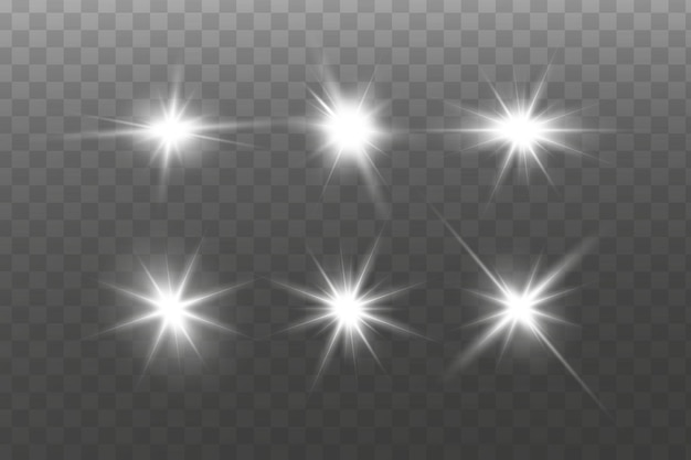 Efekt świetlny. jasna gwiazda. jasne słońce.