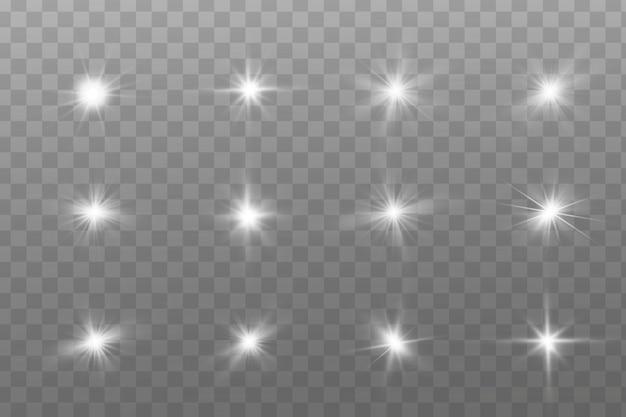 Efekt świetlny. jasna gwiazda. wybucha światło