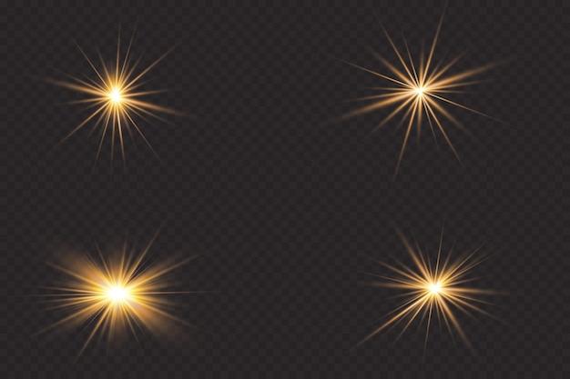Efekt świetlny. jasna gwiazda.