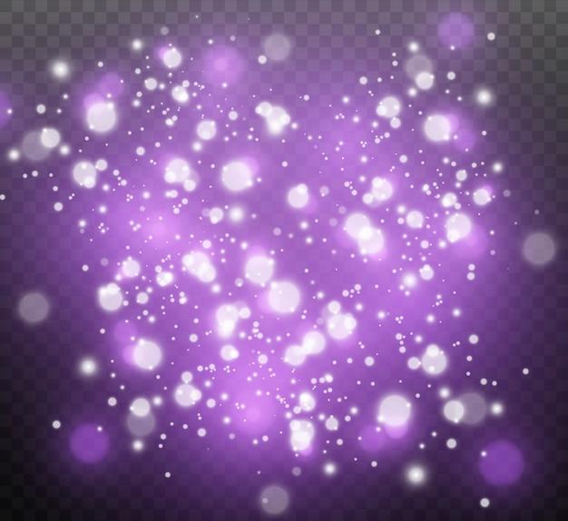 Efekt świetlny, kosmiczny pył, gwiazdy, blask.