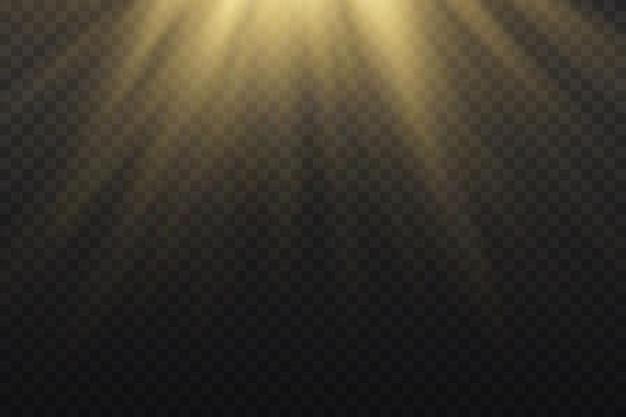 Efekt świetlny na białym tle
