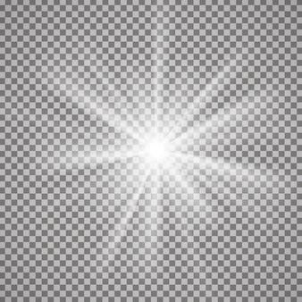 Efekt świetlny na przezroczystym tle.