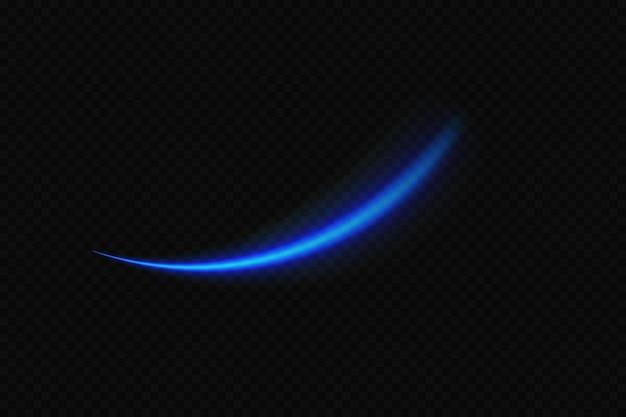 Efekt świetlny niebieskiej komety