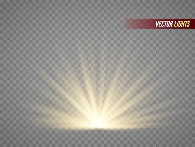 Efekt świetlny specjalny odblask soczewki słonecznej. ilustracji wektorowych