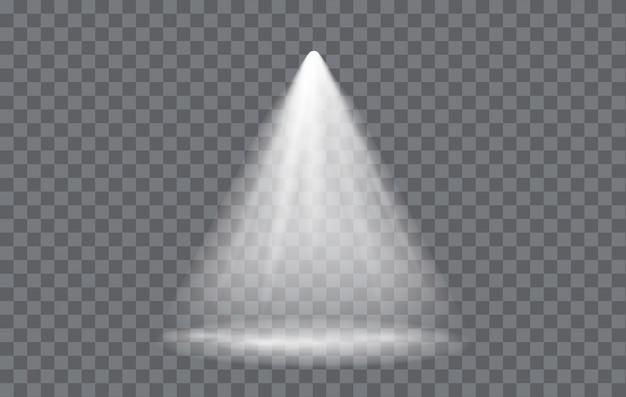 Efekt świetlny spotlight z przezroczystym tłem