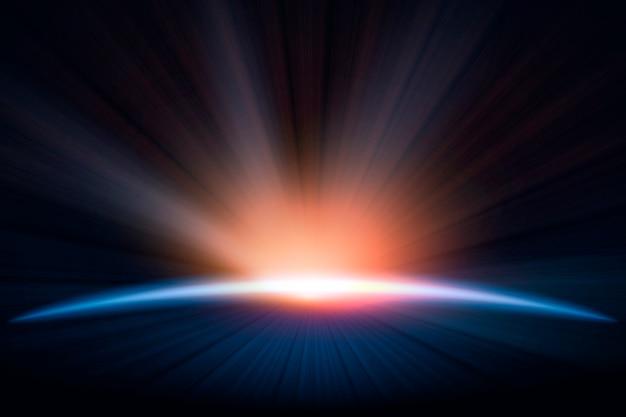 Efekt świetlny świtu ziemi