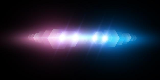 Efekt świetlny, syrena policyjna miga na przezroczystym tle.