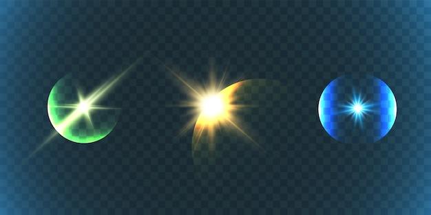 Efekt świetlny z elementami odblaskowymi