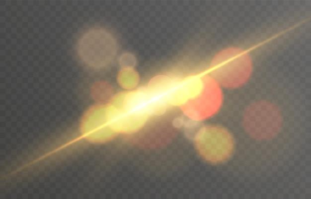 Efekt świetlny z promieniami i pasemkami gwiezdny kosmos vector