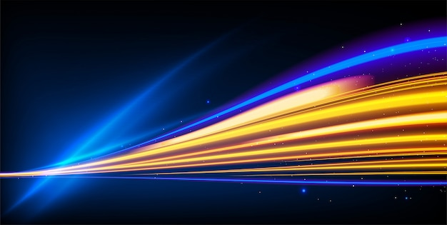 Efekt świetlnych śladów powolnej migawki