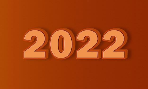 Efekt tekstowy 3d 2022 wszystkie edytowalne i konfigurowalne bezpłatne użycie czcionek
