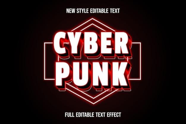 Efekt tekstowy 3d kolor cyberpunk biały i czerwony