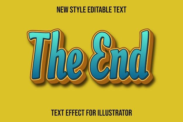 Efekt tekstowy 3d kolor końcowy zielony i jasnobrązowy gradient