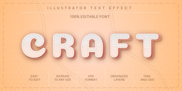 Efekt tekstowy 3d rzemiosła, styl czcionki