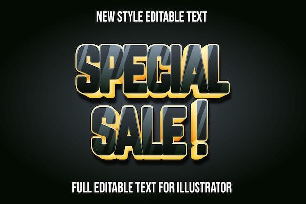 Efekt tekstowy 3d specjalny kolor ciemnozielony i jasnożółty gradient
