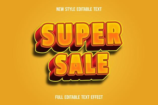 Efekt tekstowy 3d super sprzedaż kolor pomarańczowy i żółty