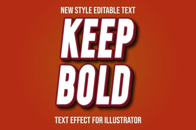 Efekt tekstowy 3d zachowaj odważny kolor biały i czerwony gradient