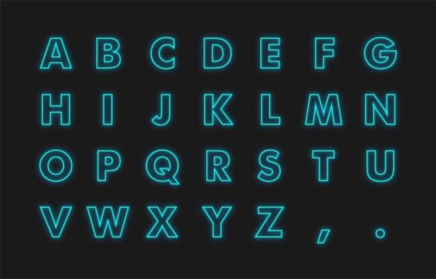 Efekt tekstowy alfabetu neonowego