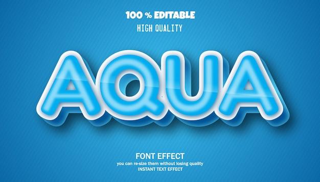 Efekt tekstowy aqua