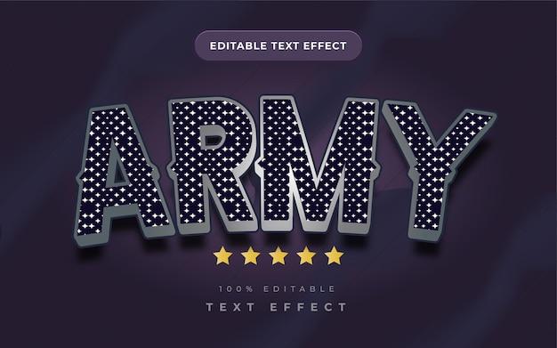 Efekt tekstowy armii dla ilustratora