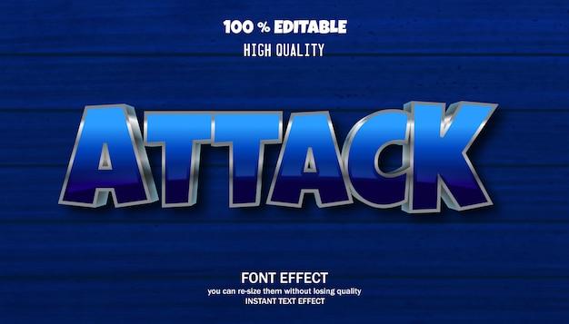 Efekt tekstowy ataku