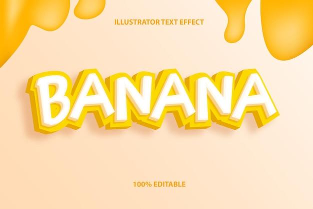 Efekt tekstowy banana lub styl efektu tekstu owocowego