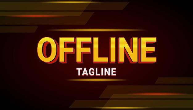 Efekt tekstowy banera offline dla sportu i esportu