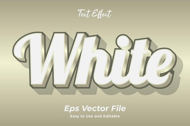 Efekt tekstowy biały edytowalny i łatwy w użyciu wektor premium