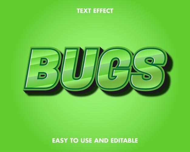 Efekt tekstowy błędów. edytowalny efekt czcionki.