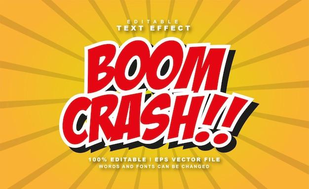 Efekt tekstowy boom crash wektor swobodny