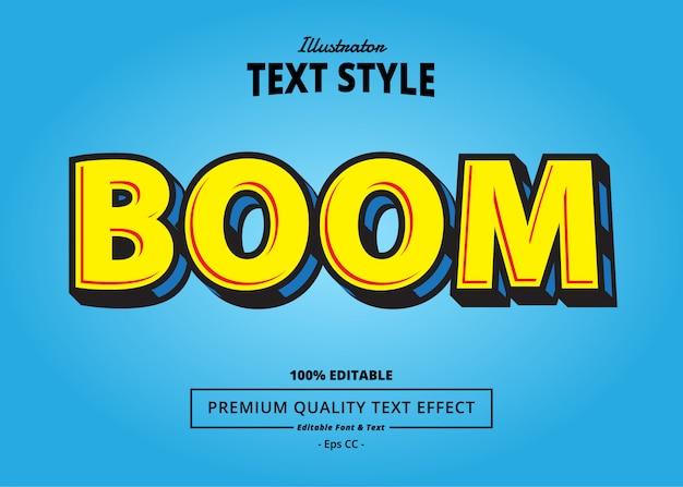 Efekt tekstowy boom