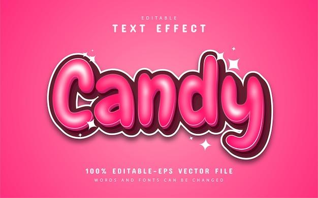 Efekt tekstowy cukierków