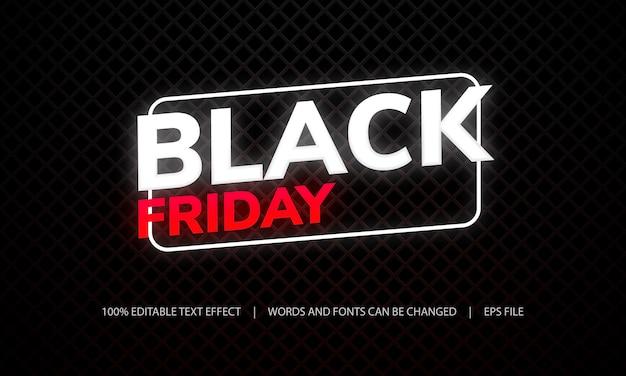 Efekt tekstowy - czarny piątek