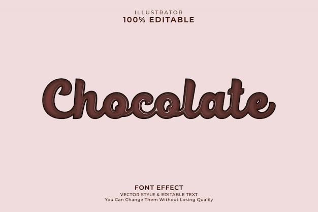 Efekt tekstowy czekolady