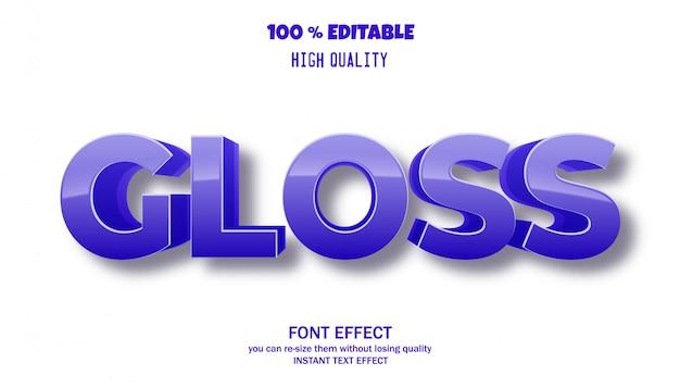 Efekt tekstowy dla fajnego futurystycznego efektu, edytowalny efekt czcionki