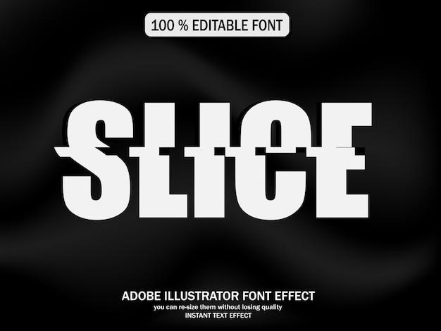 Efekt tekstowy dla fajnego futurystycznego efektu, efekt czcionki