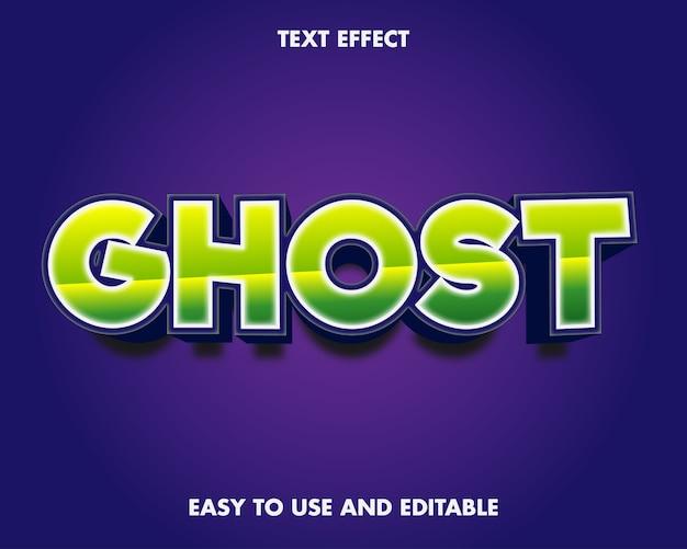 Efekt tekstowy ducha. edytowalny efekt czcionki.