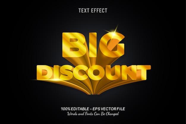 Efekt tekstowy dużego rabatu