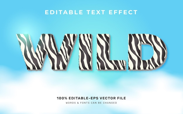 Efekt tekstowy dzikich zwierząt