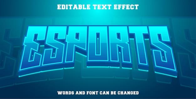 Efekt tekstowy e-sport w kolorze cyjan