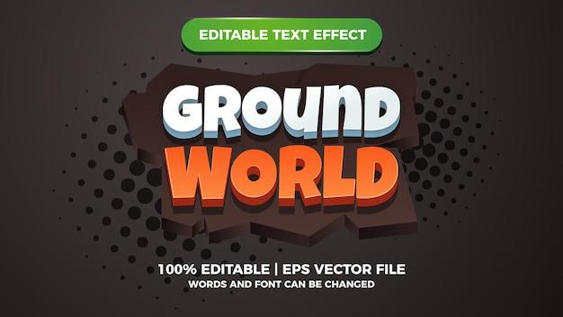 Efekt tekstowy edytowalny komiks świata ziemi