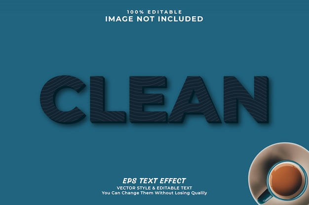 Efekt tekstowy - edytowalny styl tekstu