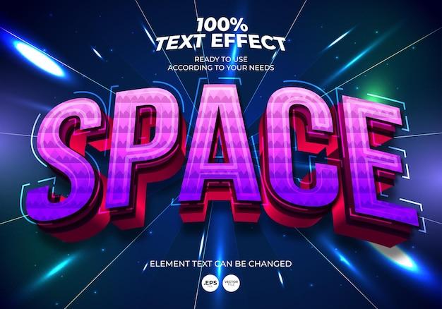 Efekt tekstowy edytowalny w przestrzeni