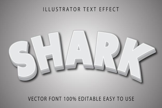 Efekt tekstowy edytowalny wektor rekina